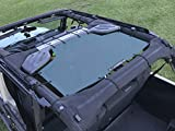 camper cap roof rack - ALIEN SUNSHADE Jeep Wrangler Mesh Shade Top Cover with 10 Year Warranty Provides UV Protection for Rear Passengers 4-Door JKU (2007-2017) (Steel Blue)