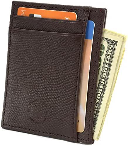 Hammer Anvil RFID Blocking Minimalist Genuine Leather Slim Front Pocket Wallet