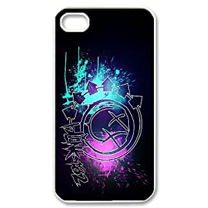 FOR Iphone 4 4S case cover -(DXJ PHONE CASE)-Blink 182 Music Band-PATTERN 14
