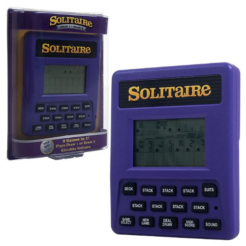 Handheld Solitaire Game - Trademark Global Electronic Handheld Solitaire Game