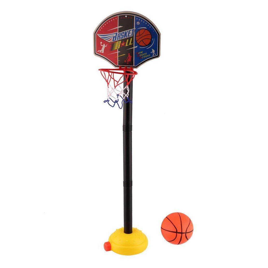 Pumpen-Kleinkind-Baby-sicherem aufblasbarem Basketball Leichtgewichtler Kindersport tragbares Basketball-Spielzeug-Satz mit Stand-Ball-u