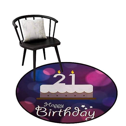 Alfombra Redonda para Dormitorio 21 cumpleaños Estilo ...