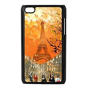 Customized iPod 4 Case Hard Plastic Material Cover For iPod iTouch 4th - Eiffel Tower