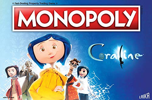 (Monopoly Coraline Board Game | Based on The Film from acclaimed Studio, Laika | Officially Licensed Coraline Merchandise | Themed Classic Monopoly Game)