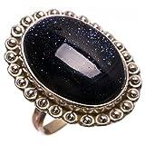 StarGems(tm) Natural Sun Sitara Handmade Vintage 925 Sterling Silver Ring, US Size 7