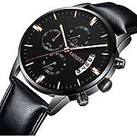[Patrocinado] kashidun de los hombres relojes Casual muñeca relojes de cuarzo luminoso impermeable calendario DATE-BLACK Dial. tl-jzhp