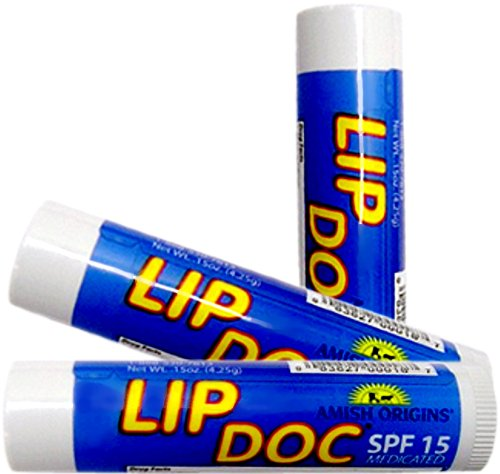 Lip Doc - Medicated Lip Balm with SPF 15 Sunblock - 3 Pack