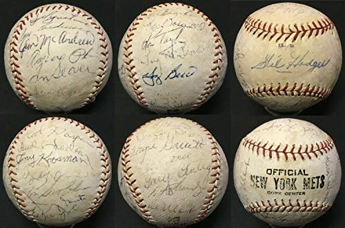 - 1969 Mets World Series Autographed Signed Memorabilia Baseball 27 Auto Tom Seaver Yogi Berra Cbm Coa - Certified Authentic