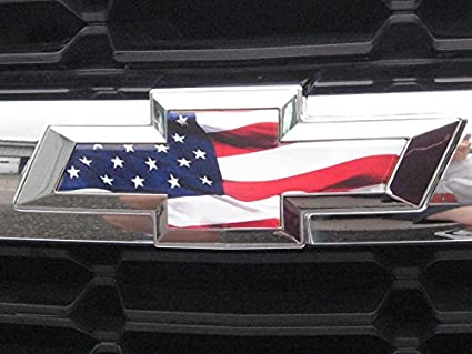 American flag chevy bowtie decal