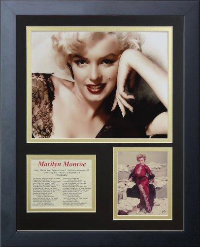 Legenden Sterben Nie Marilyn Monroe schwarz Spitze gerahmtes Foto Collage, 11 x 35,6 cm von Legends Never Die