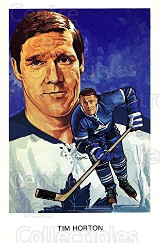 (CI) Tim Horton Hockey Card 1983 Hall of Fame Postcards J08 Tim Horton