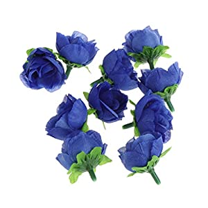 cici store 10PCS Artificial Silk Rose Buds Heads - Wedding Bridal Bouquet Flower Heads DIY Home Decoration 6