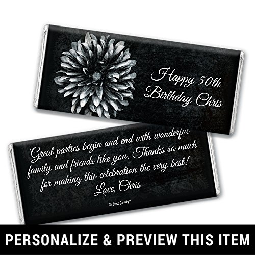 Birthday Favors Personalized Chocolate Bar Wrappers (25