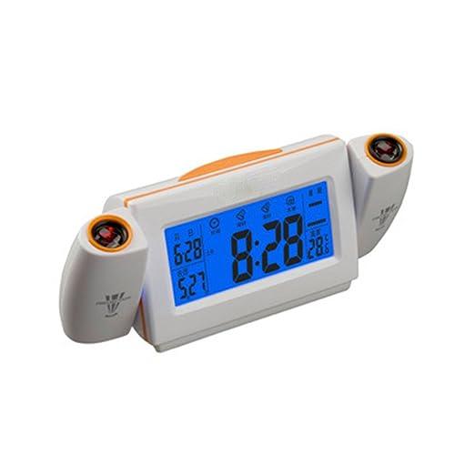 RFVBNM Proyector reloj lindo creativo despertador mudo noche ...
