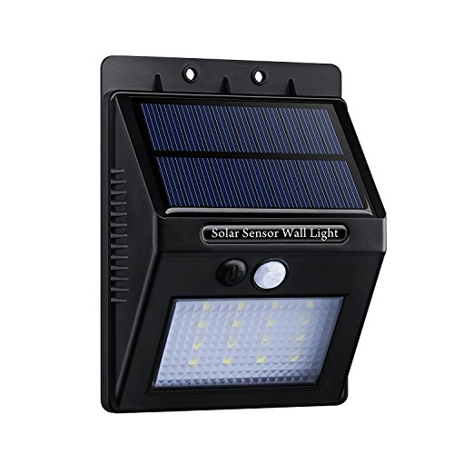 Amazon Lightning Deal 66% claimed: VicTsing 16 LED Solar Light Waterproof Outdoor Light 320lm with Dusk to Dawn Dark Sensing Auto On / Off for Wall Patio Yard Garden
