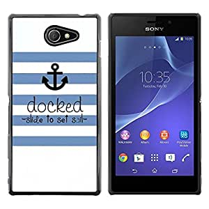 iKiki Tech / Estuche rígido - Seaman Ships Anchor Quote - Sony Xperia M2