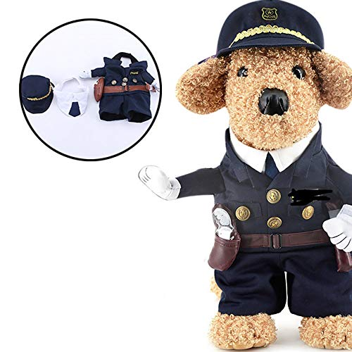 Jumpsuits Rompers - Pet Police Costume Arrival Funny Costumes Small Dogs Party Halloween Policeman Dog Clothes - Playsuit Girls Women Elegant Jumpsuits Rompers Cosplay Uniform Cloth Costum Funny -