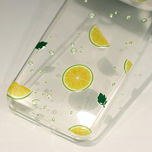 iPhone X Custodia , Leiai Moda Limone Silicone Morbido TPU Cover Case Custodia per Apple iPhone X