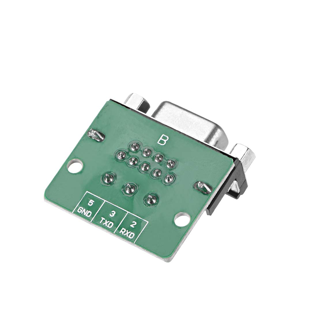 sourcing map D-sub DB9 Breakout Board Connector 9 Pin 2 Row Female Port Solderless Terminal Block Adapter with Positioning Nuts