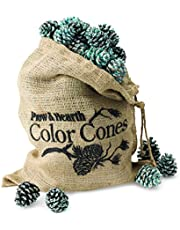 Fireplace Color Cones, Festive Fun Rainbow Flame Changing Pine Cones, Firepit Campfire Hearth Wood Burning Accessories for Holidays or Anytime