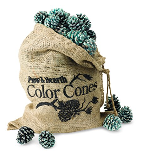 Plow & Hearth Fireplace Color Changing Pine Cones Wood Burning Accessories ()