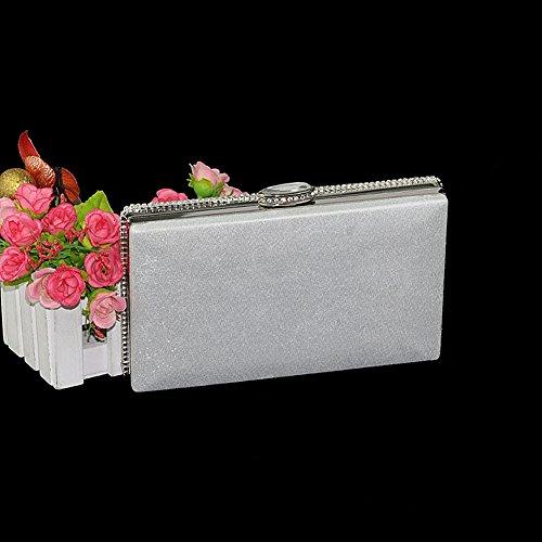 ... SSMK Evening Bag - Cartera de mano para mujer plateado plata ...