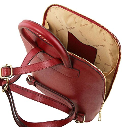 Tl141631 Shoulder Compact Tuscany Woman For Bag Leather Red Leather Red rCrtwZq