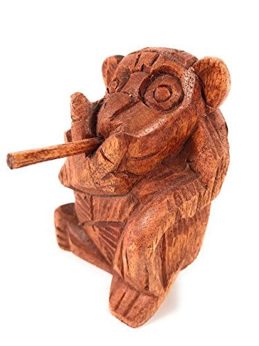 Tikimaster Monkey Carved 4.5