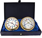White Flag 5.75 Cabin Gift Set presented in a Leather Finish Felt Lined Gift Box with Clock and Comfort Meter