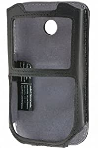 Krusell Cabriolet Leather Case with Ratchet Swivelkit for Sprint Snap - Black