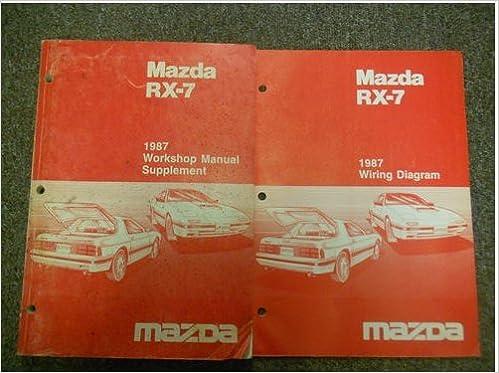 Wondrous 1987 Mazda Rx 7 Rx7 Workshop Manual Supplement Wiring Diagram Oem Wiring Cloud Intapioscosaoduqqnet
