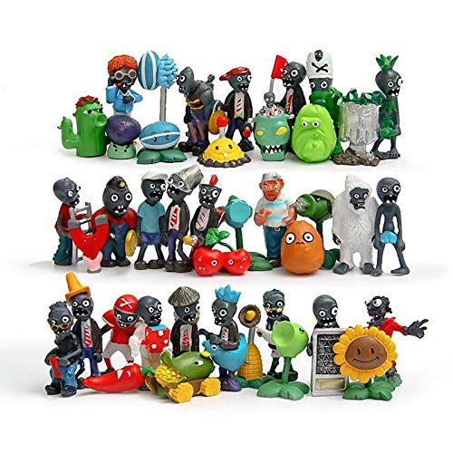 KAKALIN 24 - 40Pcs Game Plants Vs Zombies 2 Action Role Figures Series PVC Toys Kid Gift (40 Pcs) (Dragon Ball Z Budokai Tenkaichi 2 All Characters)