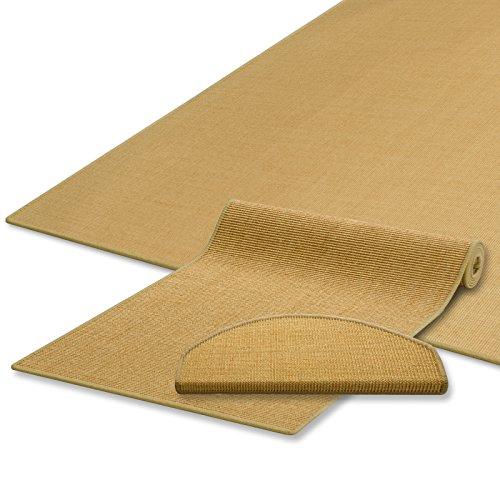 Sisal Teppich / Läufer | natur | Naturfaser | Qualitätsprodukt aus Deutschland | kombinierbar mit Stufenmatten | 19 Breiten und 18 Längen (60x100 cm)