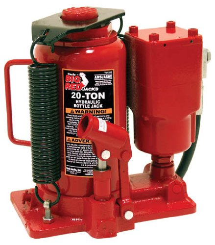 Ton Hydraulic Bottle Jack Press - Torin Big Red Air Hydraulic Bottle Jack, 20 Ton Capacity