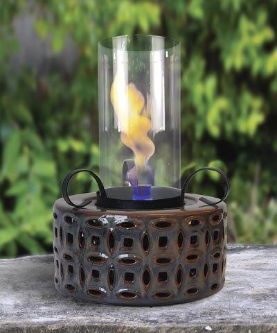 - Outdoozie Hurriflame Sierra Vortex Table Top Outdoor Lantern, Burnt Sienna