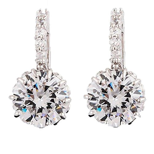 - Usstore 1Pair Women Prong Setting Rhinestone Austria Crystal Ear Stud Earrings Jewelry Eardrop Gift