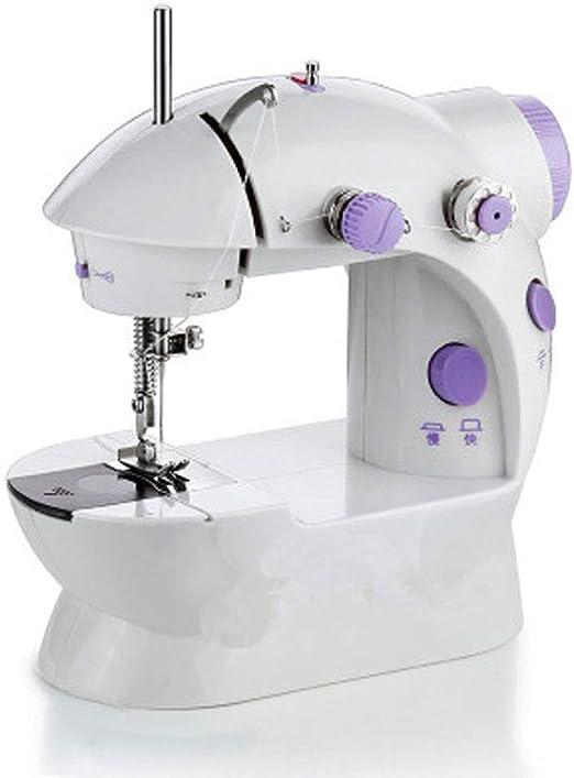 ŨNË Máquina De Coser Eléctrica Multifunción para El Hogar Portátil Mini, Fácil De Usar Y Aspecto Hermoso - Blanco: Amazon.es: Hogar