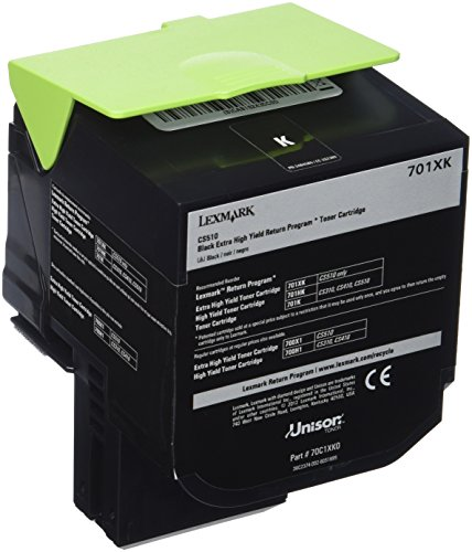 Lexmark 70C1XK0 Black Extra High Yield Return Program Toner