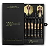 Professional Darts Set - Customizable Configuration 6 Steel Tip Darts (18gram/22gram) | 6 Aluminum Shafts (35mm/48mm) |12 Flights (6Standard/6Slim) | Darts Tool | Darts Sharpener and Premium Case