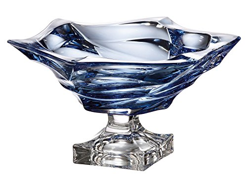 Czech Bohemian Crystal Glass Footed Bowl-Vase 13