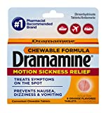 Dramamine Chewable Formula Motion Sickness Relief | Orange | 8 Count