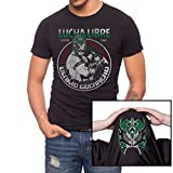 Jack of All Trades Men's Lucha Libre Ultimo Guerrero T-Shirt, Black, Large
