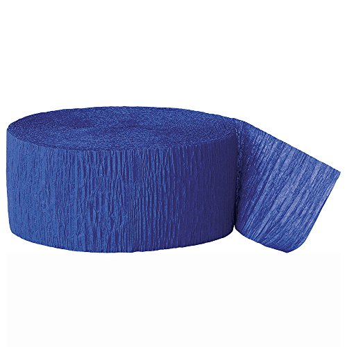 81ft Royal Blue Crepe Paper Streamers