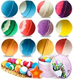 bath bombs gift set (12 count x 3 oz), stntus handmade spa bubble bombs and floating fizzies