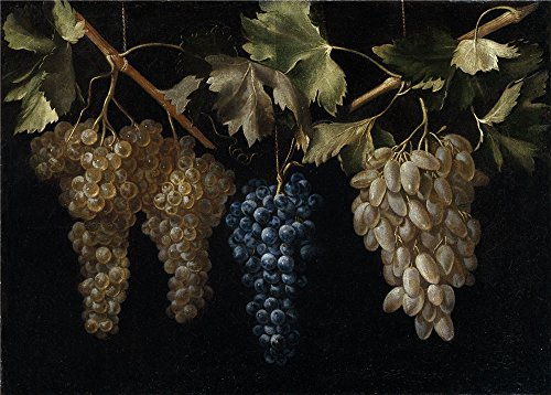 Oil Painting 'Fernandez El Labrador Juan Four Bunches Of Grapes Hanging ' Printing On High Quality Polyster Canvas , 18 X 25 Inch / 46 X 64 Cm ,the Best Kitchen Decor And Home Artwork And Gifts Is This Reproductions Art Decorative Canvas Prints