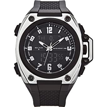 60089d8fbbeb Hector H 665220 - Reloj analógico y digital de cuarzo para hombre con  correa de plástico