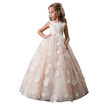 67a388ee2 Amazon.com  Angel Dress Shop Lace Flower Girl Dresses for Weddings ...