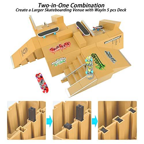 TIME4DEALS Finger Skateboard Park 8pcs Skate Park Kit Ramp Parts, Mini Fingerboard Rails Starter Kit with 3 fingerboards & 5 Silicone Mat Set by TIME4DEALS (Image #6)