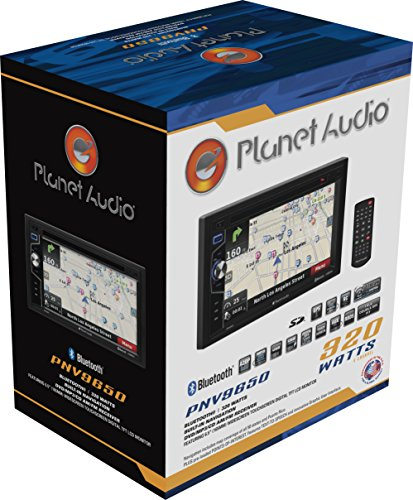 Planet Audio PNV9650 Double Din, Touchscreen, Bluetooth, Navigation, DVD/CD/MP3/USB/SD AM/FM Car Stereo, 6.5 Inch Digital LCD Monitor, Wireless Remote by Planet Audio (Image #6)