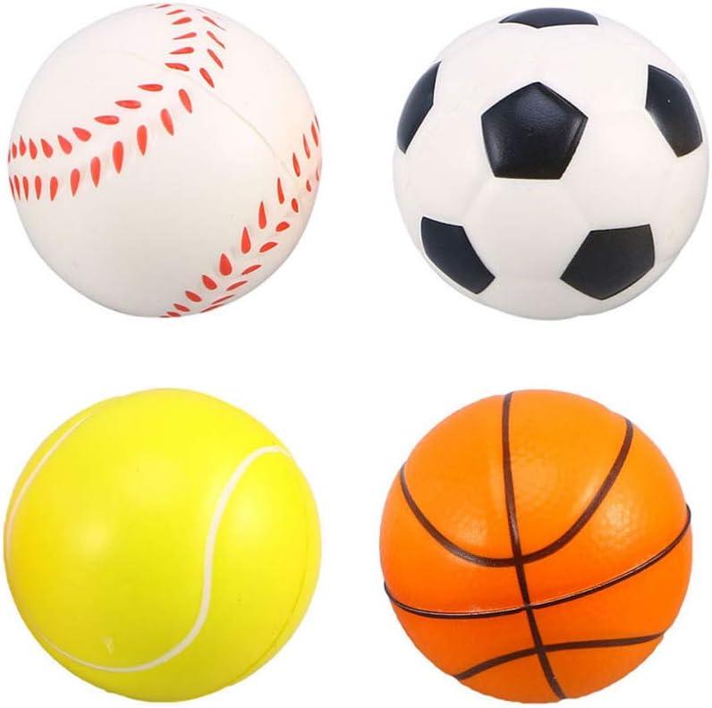 Mini Pelotas Deportivas Juguetes para Masticar para Juegos Interactivos de Interior Al Aire Libre ibasenice Baloncesto de Esponja de Espuma Suave 2 5 Juguete para Perros Que Chirr/ían